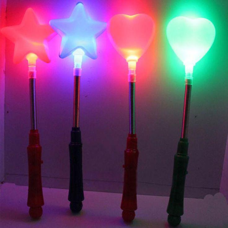Flashing LED Light Glow Wand Stick Glow Wand Blinking LED Glow Light Stick Magic Glow Stick