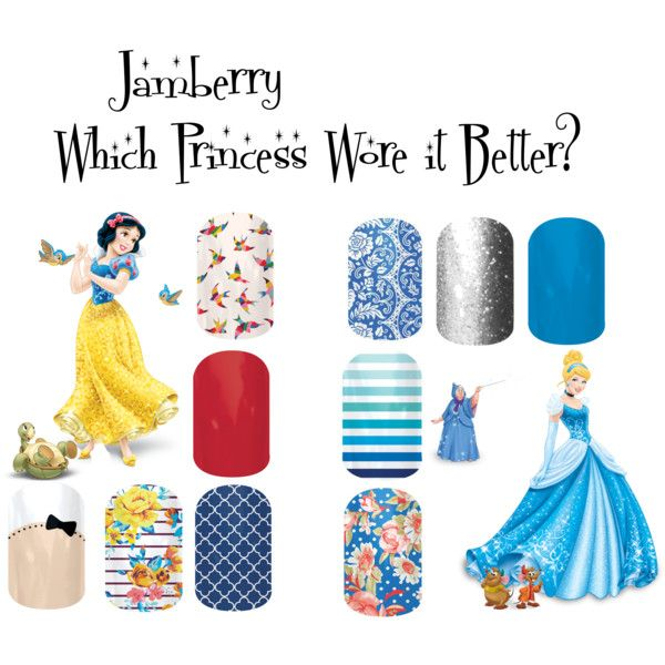 """""""Jamberry Princesses 1"""" by angiodancer on Polyvore LaurasTXJams.JamberryNails.Net  Or email LaurasTXJams@hotmail.com"""