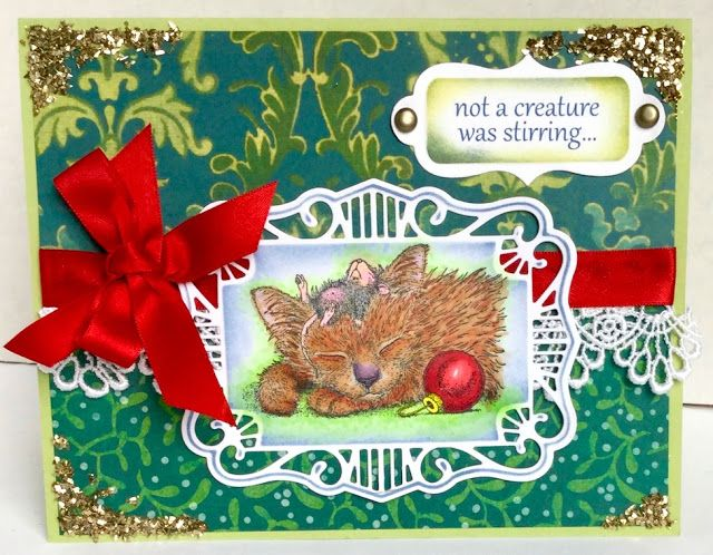 "Creative Smiles - my little crafting world: House Mouse Challenge with ""ANYTHING CHRISTMAS GOES"" theme"