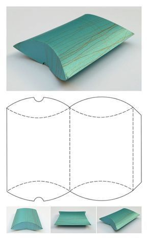 Free Printable Gift Box Templates – Pillow Box and Others