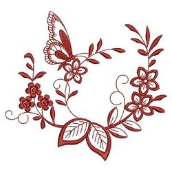 Redwork Floral Butterfly 4 - 3 Sizes! | What's New | Machine Embroidery Designs | SWAKembroidery.com Ace Points Embroidery