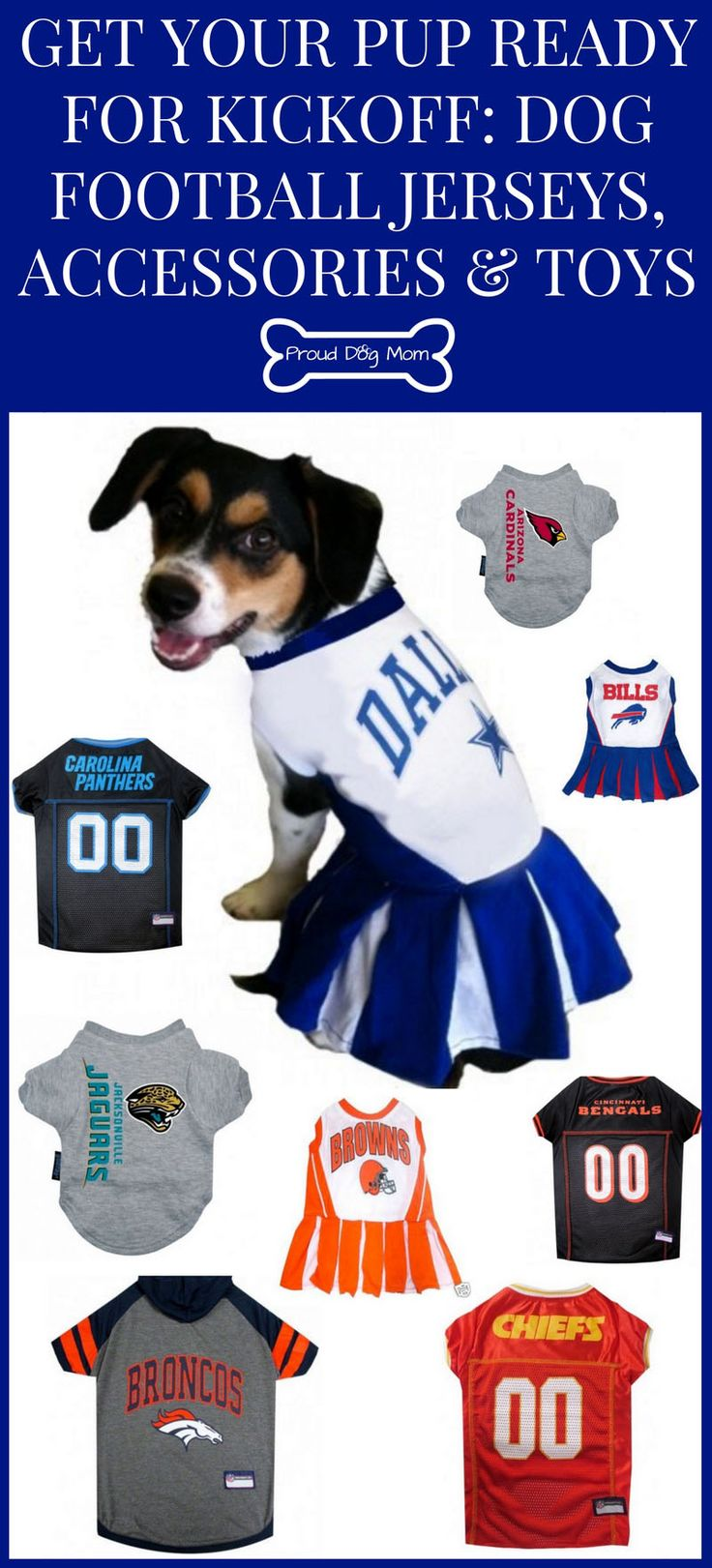 Get Your Pup Ready For Kickoff: Dog Football Jerseys, Accessories, and Toys | Dog Products |