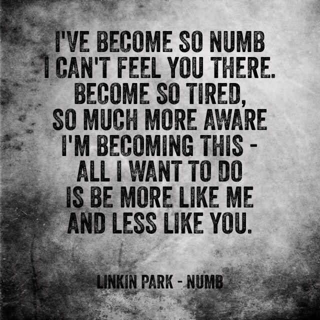 Daily Lirics: Lyrics Numb