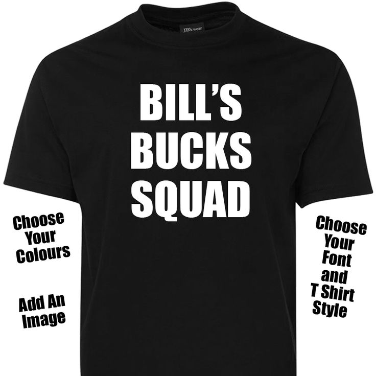 Personalised Bucks Party TShirt - Choose Your Text