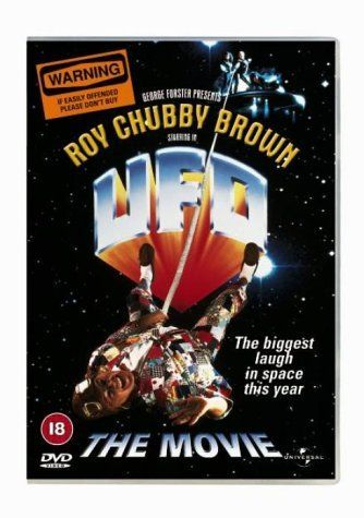 """U.F.O. (1993) Not Rated  -Futuristic feminists snatch a foul-mouthed comic (Roy """"Chubby"""" Brown) from a performance hall.  -   COMEDY / SCI-FI"""