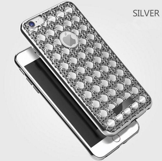 Роскошные Алмаз Сетка Дизайн Чехол Для iphone 6 Чехол Для iphone 6 S 6 Плюс 5 5S…