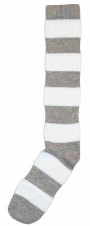 Nouvella Grey White Stripe USA Made Womens Knee High Sock Nouvella. $8.00
