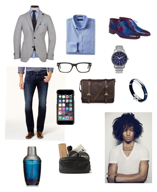 """Sin título #319"" by carolinaramirez-1 on Polyvore featuring Dapper Fox, 7 For All Mankind, Citizen, Lands' End, Tom Ford, County Of Milan, Cole Haan, HUGO, Shinola y men's fashion"
