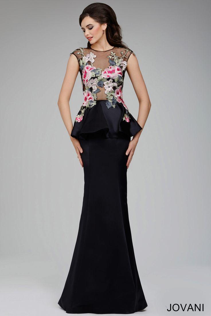 Черный баски платье 25103