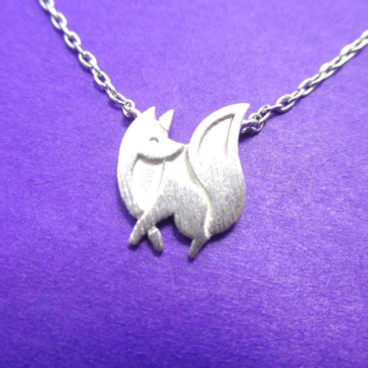 Fox Silhouette Fennekin Pokemon Inspired Animal Charm Necklace in Silver   Handmade Animal Jewelry by AttiJewelry on Etsy https://www.etsy.com/listing/462654817/fox-silhouette-fennekin-pokemon-inspired