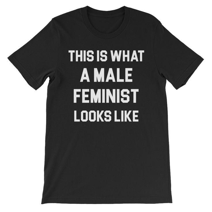 Male Feminist Unisex short sleeve t-shirt
