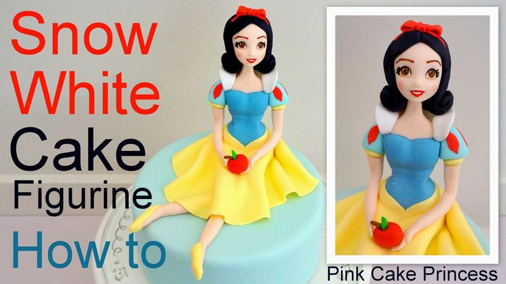 Love Disney's Snow White & the Seven Dwarfs? See how to make a Snow White cake figurine to go on top of your cakes. A cake figurine modelling tutorial by Pin...