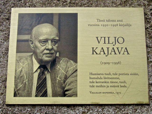 Hän asui täällä: Viljo Kajava