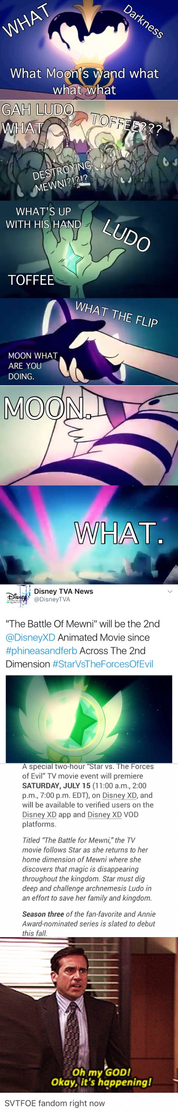 Star vs the Forces of Evil MOVIE ON JULY 15. THIS IS NO JOKE. Credit @livieblue