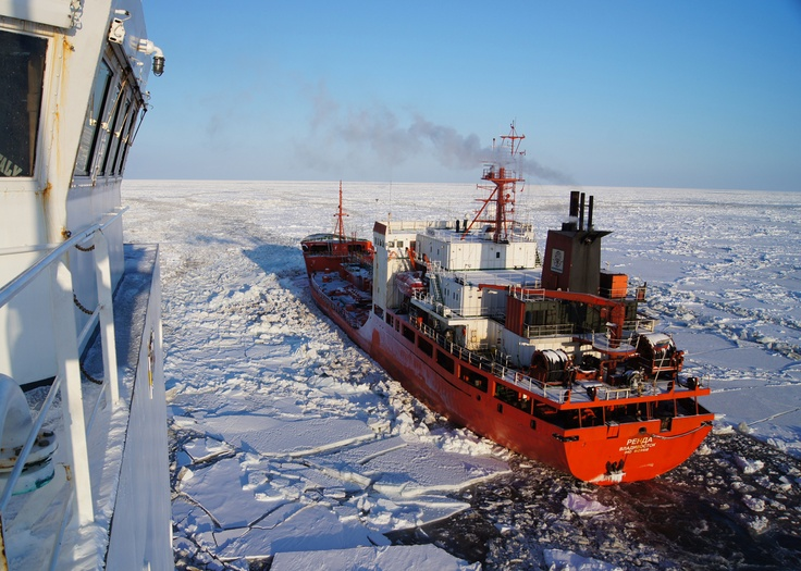 Ice navigation encourages new technologies & requires support vessels like ice breakers all through the sail if there is pack ice.