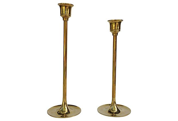 Midcentury  Candleholders, Pair on OneKingsLane.com