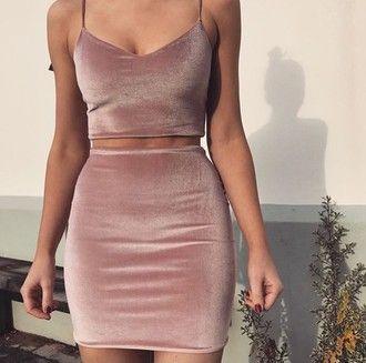 dress velvet velvet dress outfit top and bottom skirt cute halp halpme silk pink pink dress bodycon body tumblr instagram beige hotel beige dress