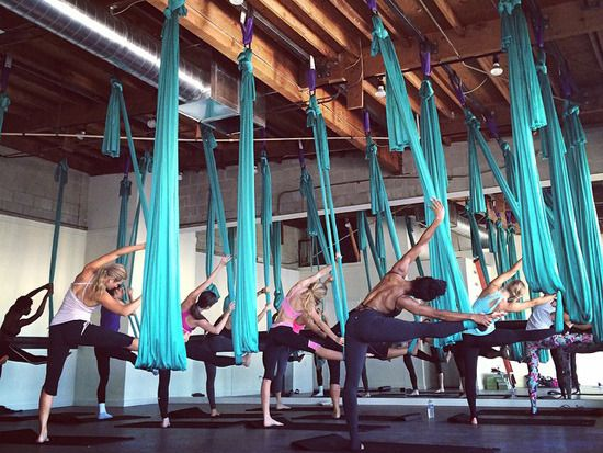 The Workout: Aerial Fitness Working out feels more like fun at AIR. The studio's unique aerial fitness program combines ballet barre techniques, yoga, and Pilates, all while defying gravity as you dangle from silk hammocks. You'll achieve killer abs and an all-around more toned and sculpted body. 8474 W. Third St., West Hollywood, 312-288-9614