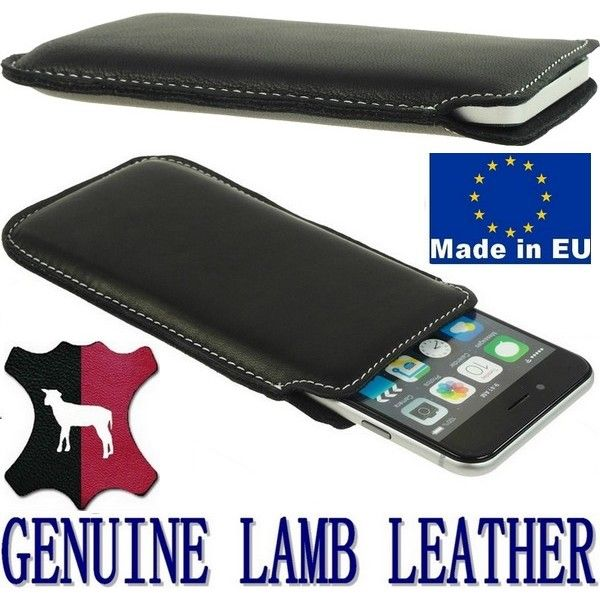 Pocket case cover handmade of genuine lamb leather - Very nice to the touch, well attached to the phone