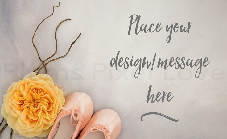 Styled Stock Photography mock up, instagram, Overlay text, nursery, yellow rose, ballet slippers, digital image, copy space, feminine SSP72 by plumspixellove on Etsy