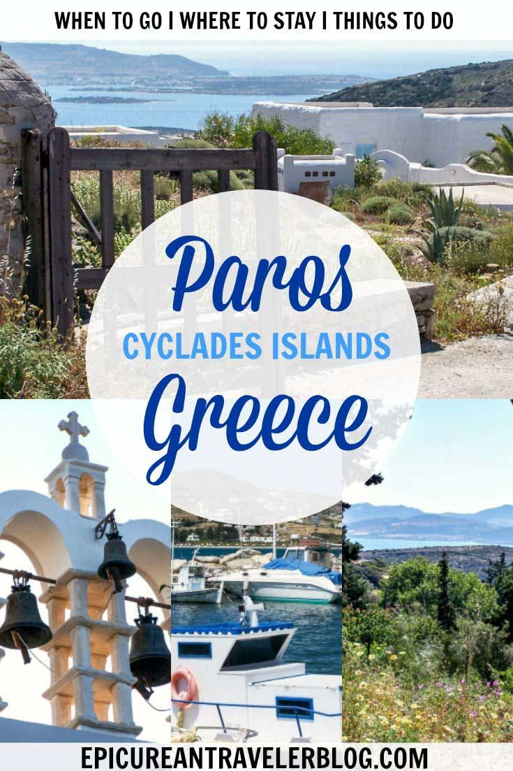 Where to stay, what to do, and when to visit Paros, a Greek island in the Cyclades. Get your travel tips today at EpicureanTravelerBlog.com!   Paros, Greece
