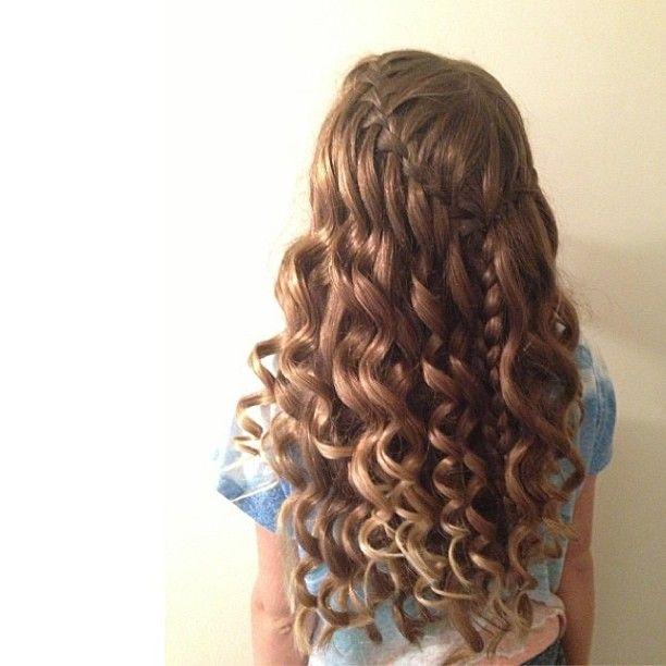 Best 20+ Waterfall braid with curls ideas on Pinterest | Waterfall ...