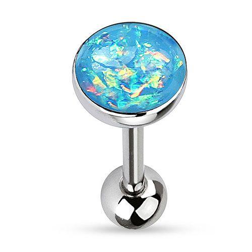 Zungenpiercing Schmuck Multi Opal Kristall Glitter