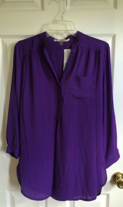 41 Hawthorn Colibri tab sleeve blouse | love the purple