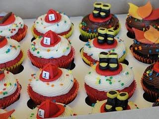 cupcakes de bomberos