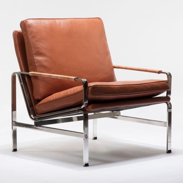 Kurt Lounge Chair - Cognac Leather | Memoky.com