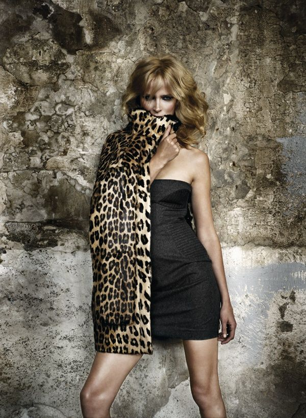 Leopard evening fashion