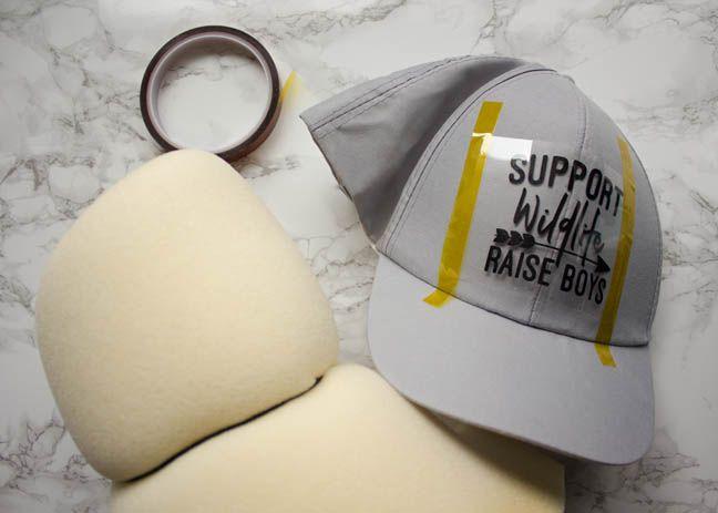 How To Apply Heat Transfer Vinyl To A Hat The Font Bundles Blog Hat Vinyl Ideas Vinyl Hat Ideas Heat Transfer Vinyl
