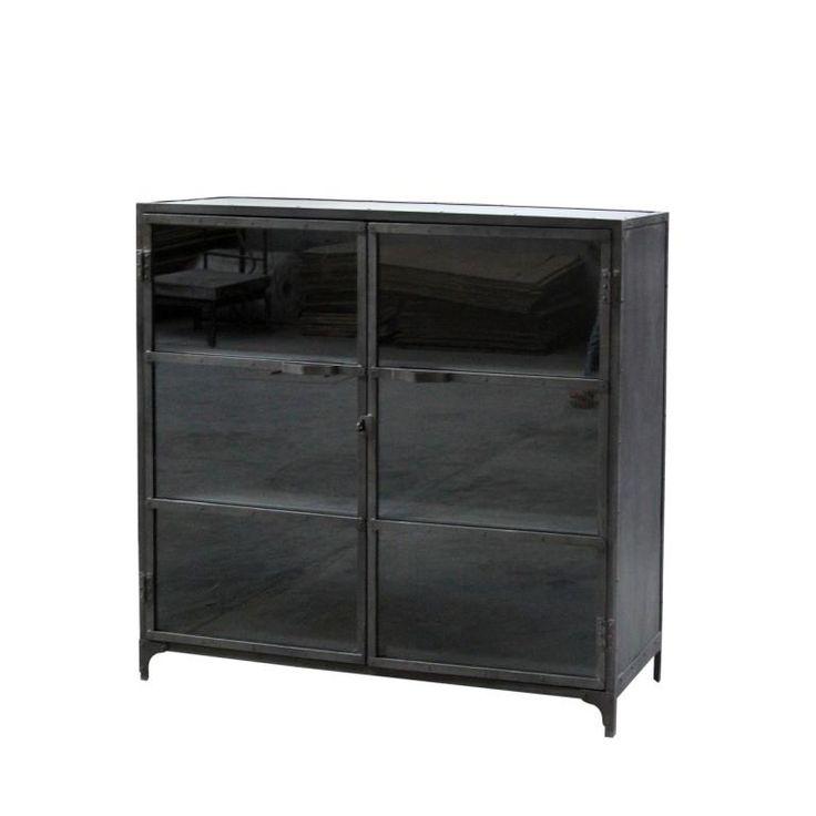 Iron Glass cabinet
