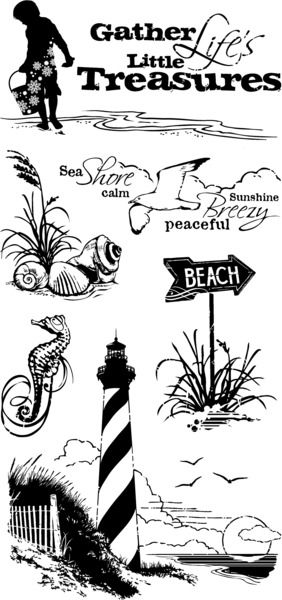 Inkadinkado Stamps Down by the Seaside