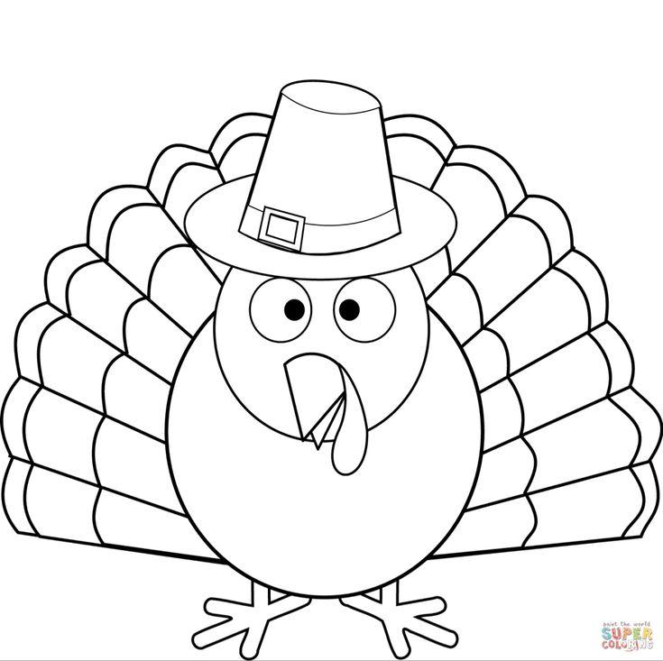 Thanksgiving Turkey coloring page | Free Printable ...