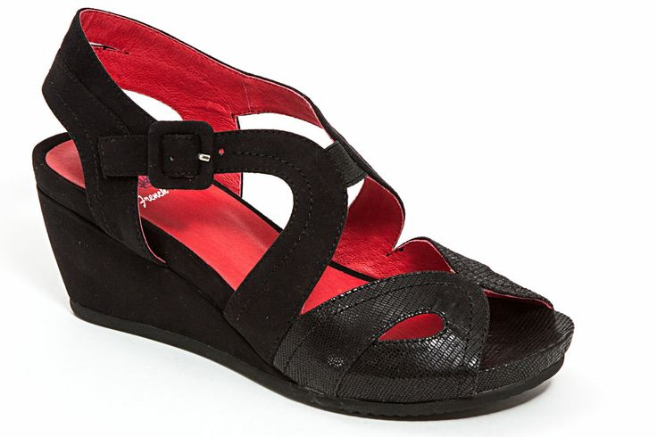 bdb65e9f8c3788 Another great find on Black Black-Jack Platform Sandal by French Blu
