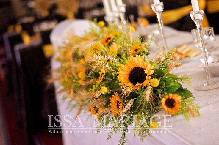 masa prezidiu cu floarea soarelui