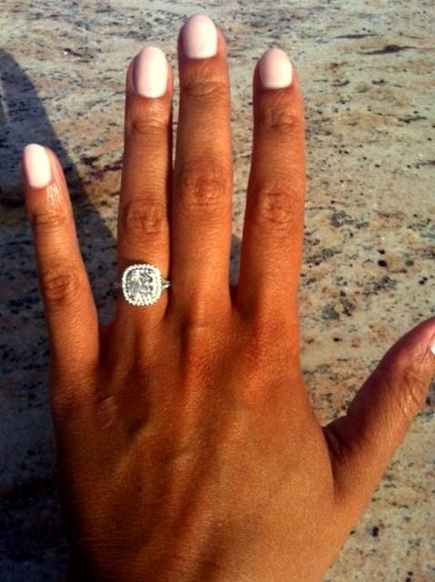Ashley received the ring of her dreams from Tiffany & Co.
