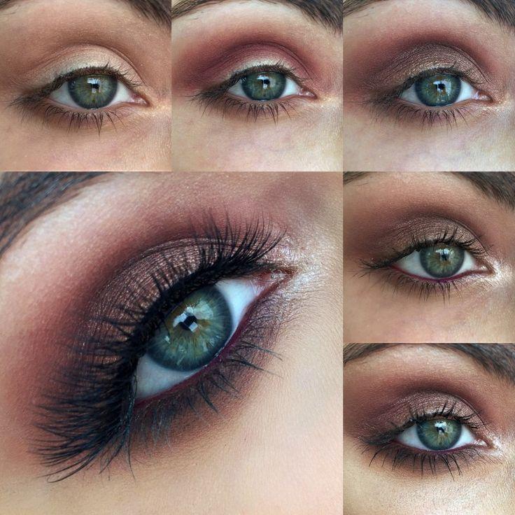 smokey makeup tutorial for blue eyes