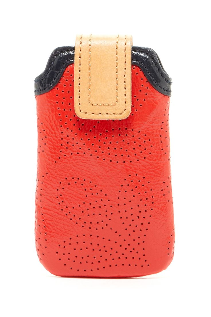 Orla Kiely Perforated Leather iPhone Case