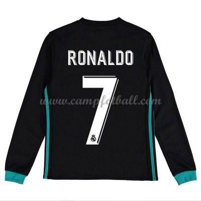 Fotballdrakter Barn Real Madrid 2017-18 Cristiano Ronaldo 7 Borte Draktsett Langermet