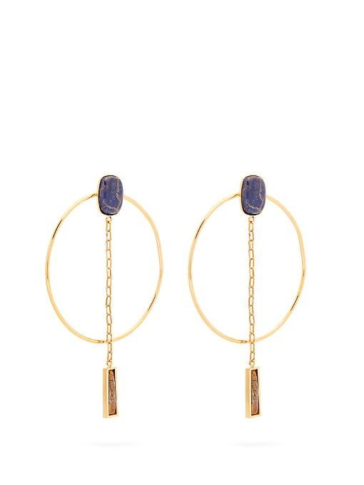 Isabel Marant Dancing hoop and pendant-drop earrings