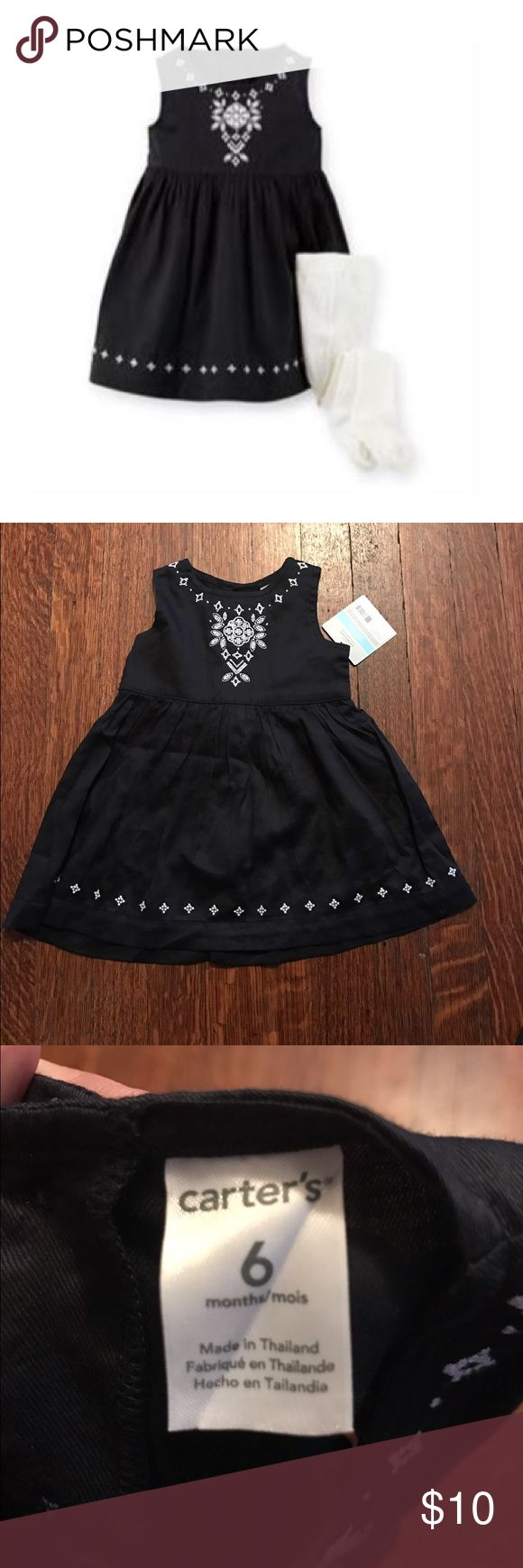Black infant carter's dress Carter's Sateen Embroidered Dress •non-smoking home • Carter's Dresses Casual