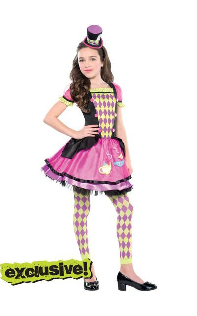 Girls Miss Mad Hater costume available at Party City