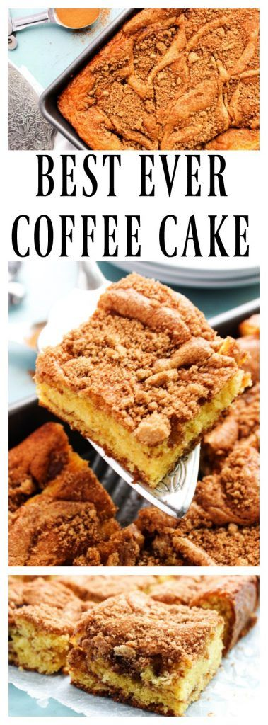 Best Ever Coffee Cake {Shelia's Coffee Cake} - 7 ingredients away from coffee cake perfection! - A Dash of Sanity