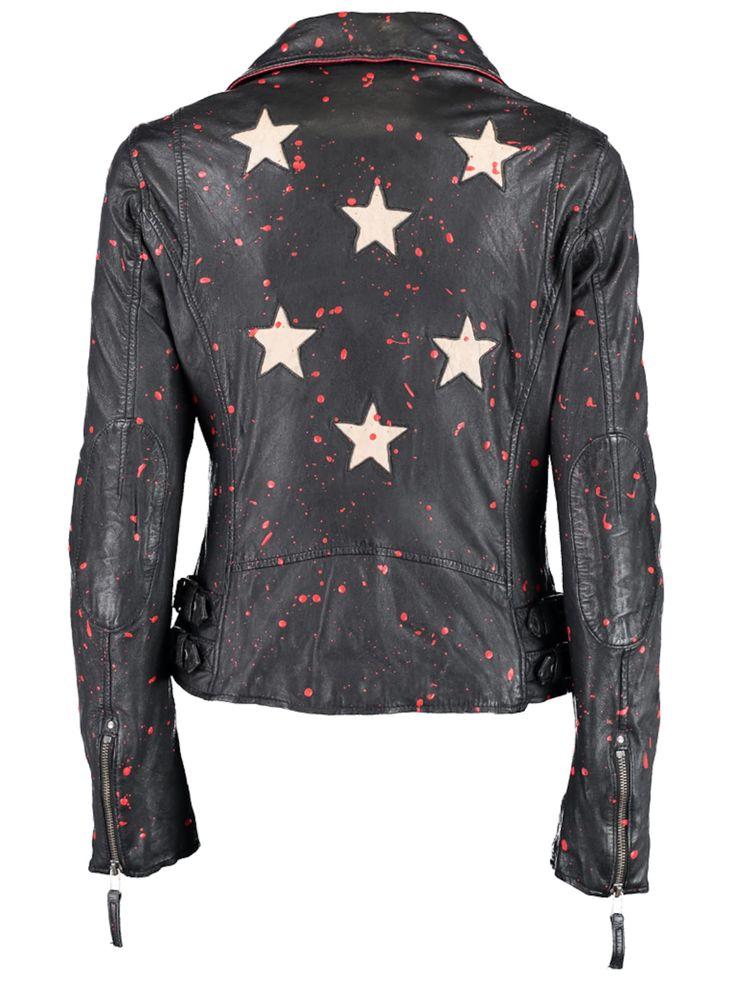 DNR Jackets Damen Lederjacke mit Allover Muster | OTTO