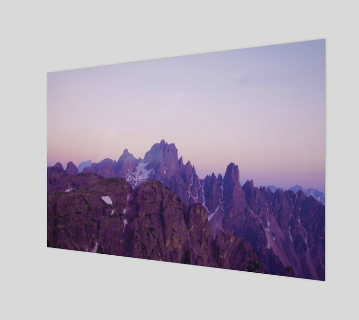 "Poster+""Mountains+of+Violet""+by+Mixed+Imagery"
