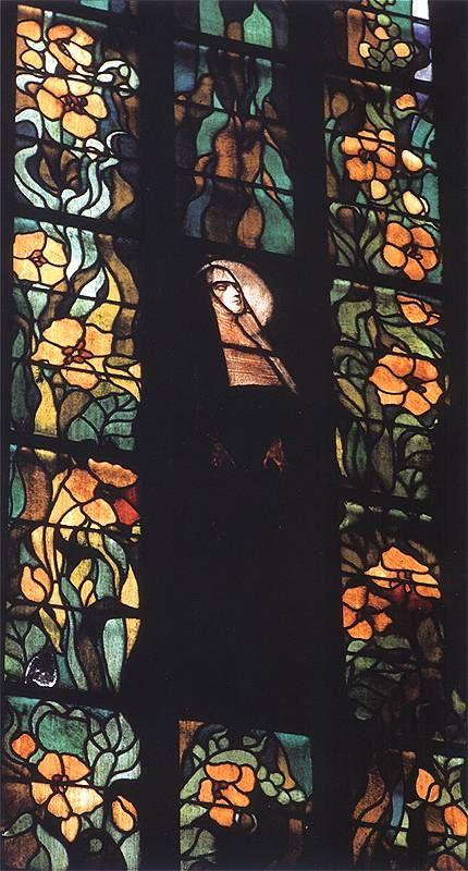 Stanislaw Wyspianski -1897-1904 Blassed Salome Franciss of Assissi Church Cracow  witraże (1)