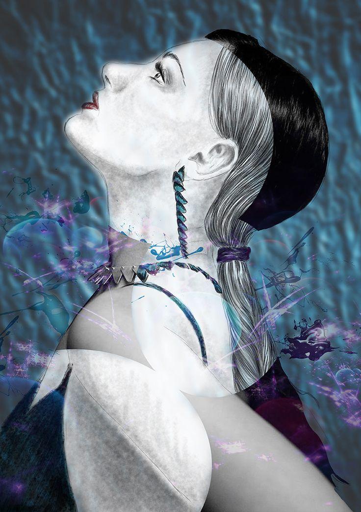 #digital #illustration #skech #model #art #design #concept #fashion #elegance #woman