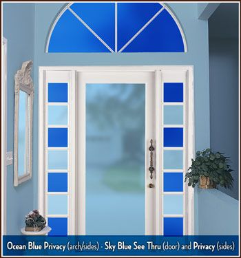 Sky Blue Tinted Window Film, Privacy & See-Thru | Wallpaper For Windows